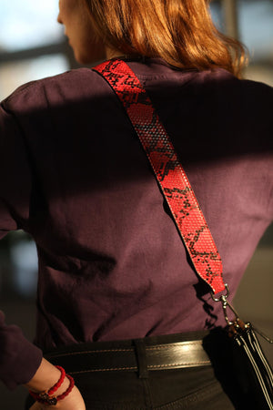 "Snakeskin Bag Strap ""Long Length"""