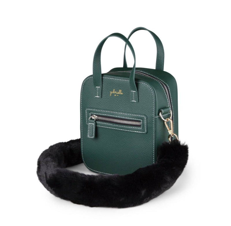 Aurora Bag + Faux Fur Black Long
