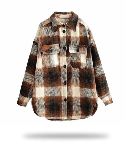 Amaya Plaid Oversized Overshirt