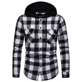 Hampton Hooded Plaid Long Sleeve Shirt
