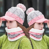 Wovoa Cap and Neck Warmer Two Piece Set