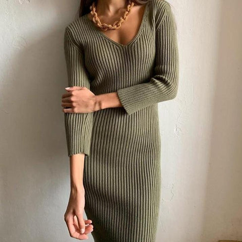 Amara Knee-Length Sweater Dress