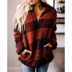 Dakota Plaid Sherpa Pullover