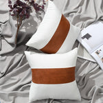 Amelia Faux Leather Throw Pillow Covers