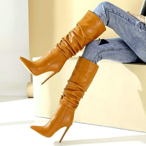 Emma High Heel Slouch Boots