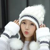 Tinsly Knitted Beanie/Wrister Combo Set