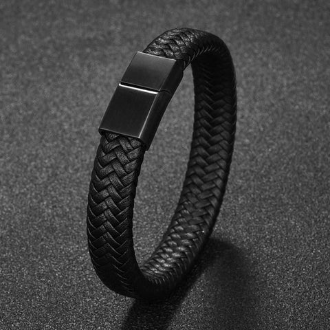 The Max Band Men's Leather Bracelet
