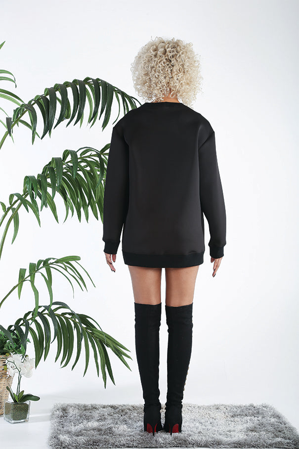 "ViSH NYC | Unisex Sweatshirt - ""V"" Mesh Details - Can pair with Iris Leggings"