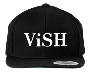 ViSH NYC | Black base - White embroidered logo - Snapback - One Size Fits All - Unisex