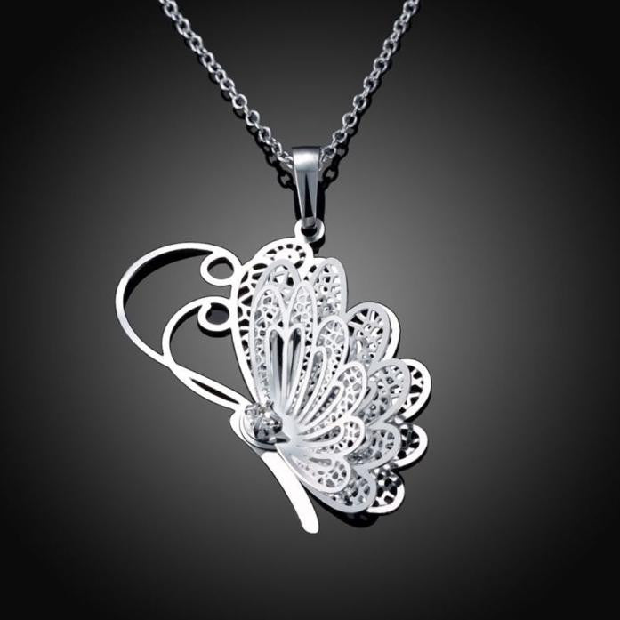 Butterfly Pendant Chain Necklace