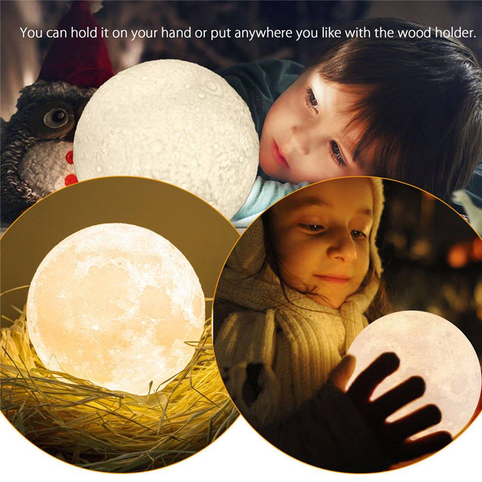 3D Magical Moon LED Night Light
