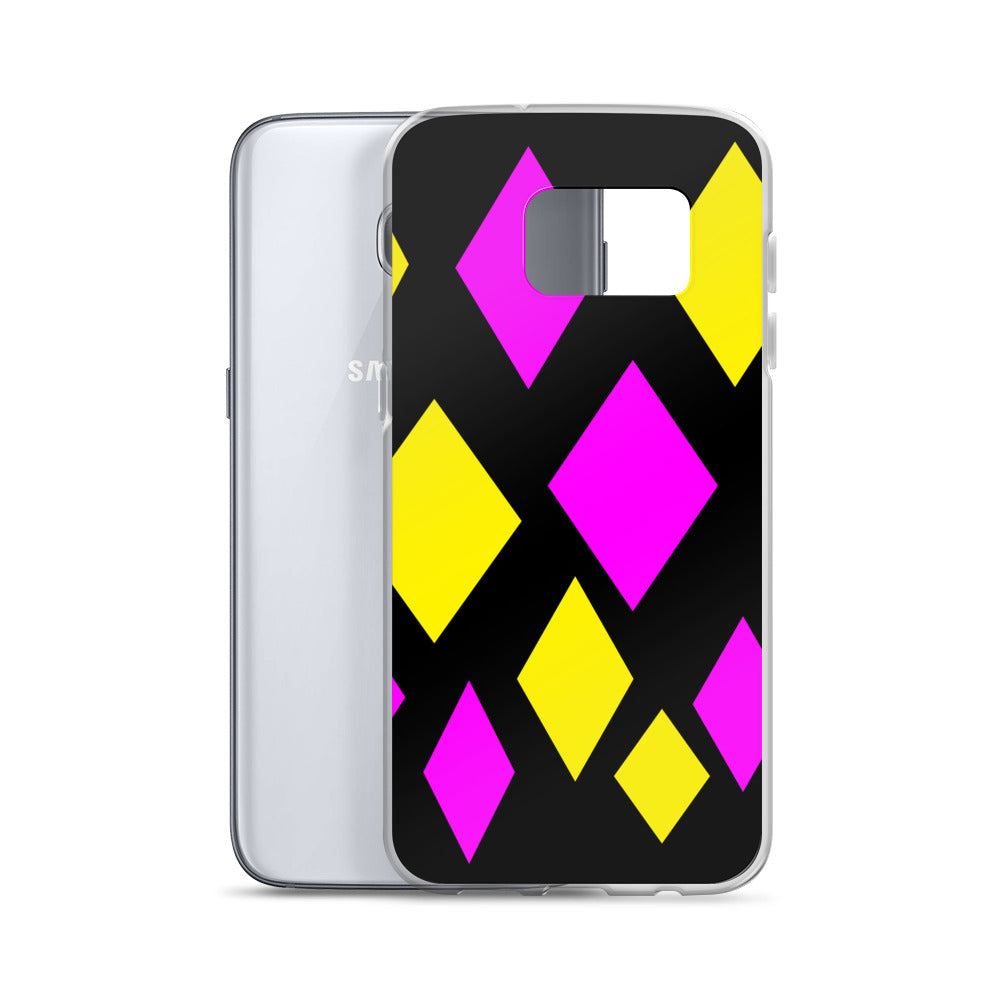 Pink and Yellow Diamond Samsung Phone Case