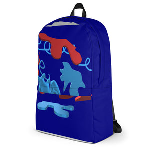 Blue 3-D Backpack