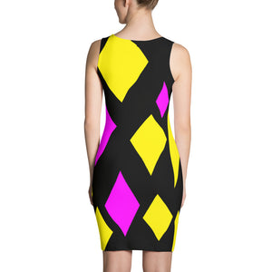 Pink and Yellow Custom Made Dress