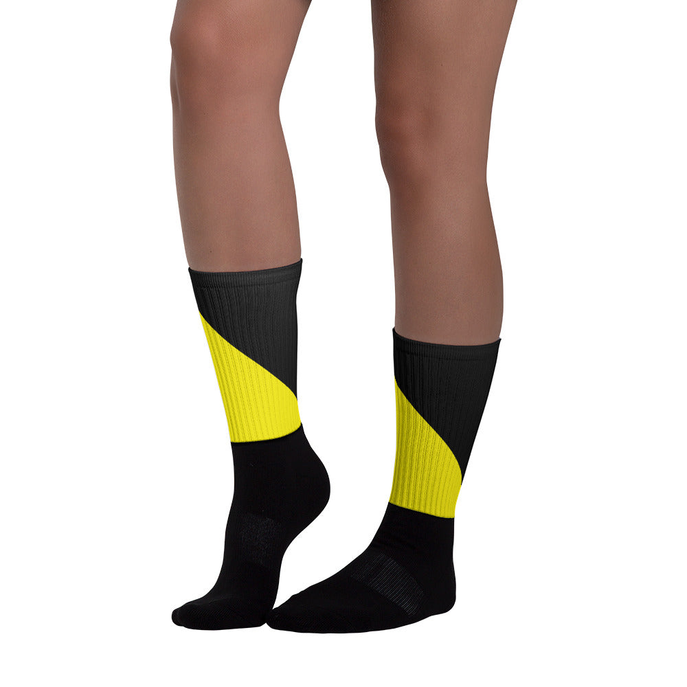 Stylish Black and Yellow Socks