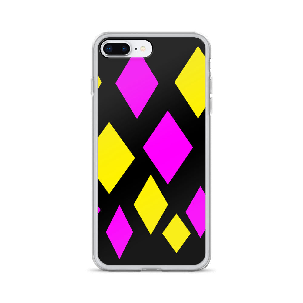 Pink and Yellow Diamond iPhone Case