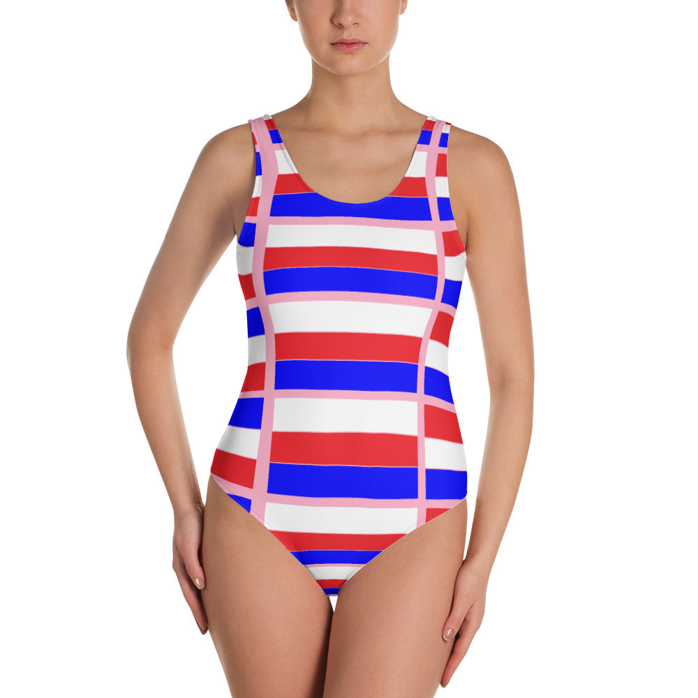 Colorful One-Piece Swimsuit