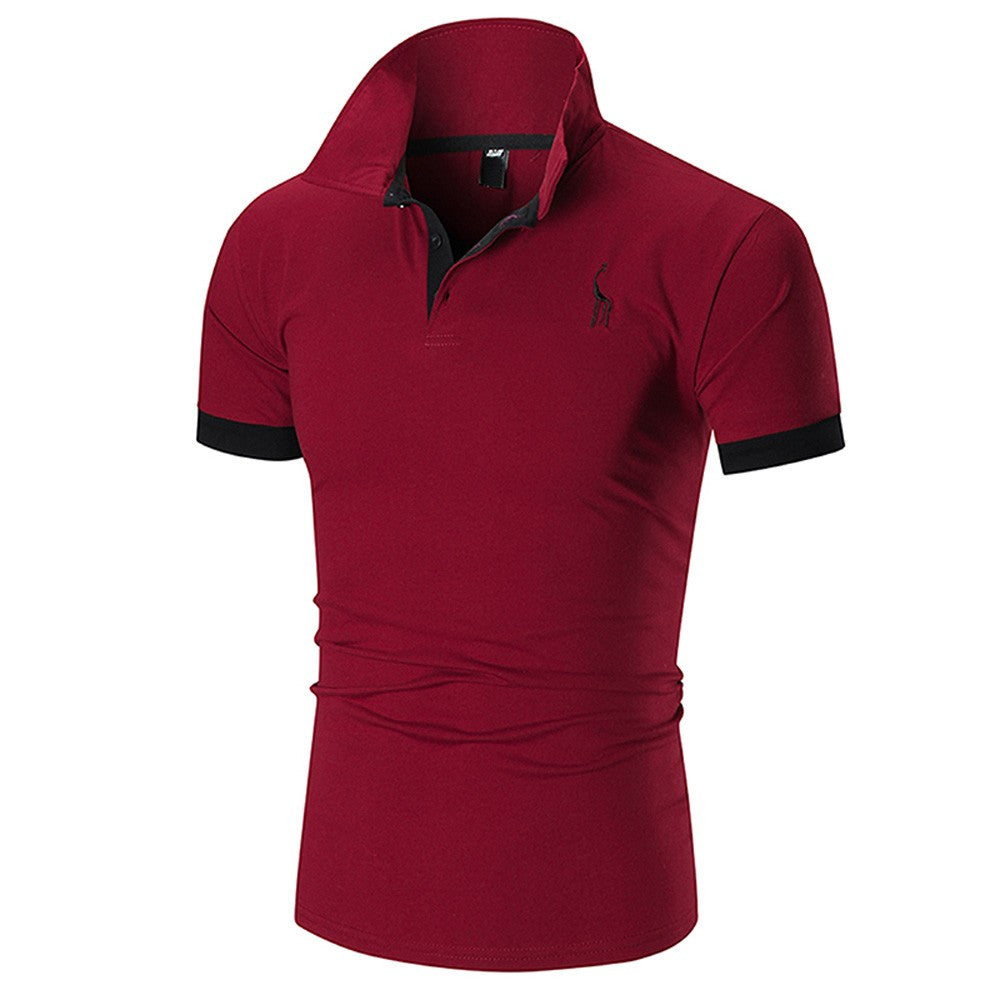 Business Casual Polo Style Short Sleeve Shirt
