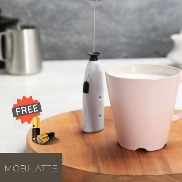 MobiLatte™ FREE (2) AA Batteries - ENJOY RICH AND FROTHY BEVERAGE ANYWHERE!