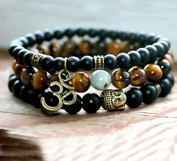 Tiger Eye Om-Power Bracelet
