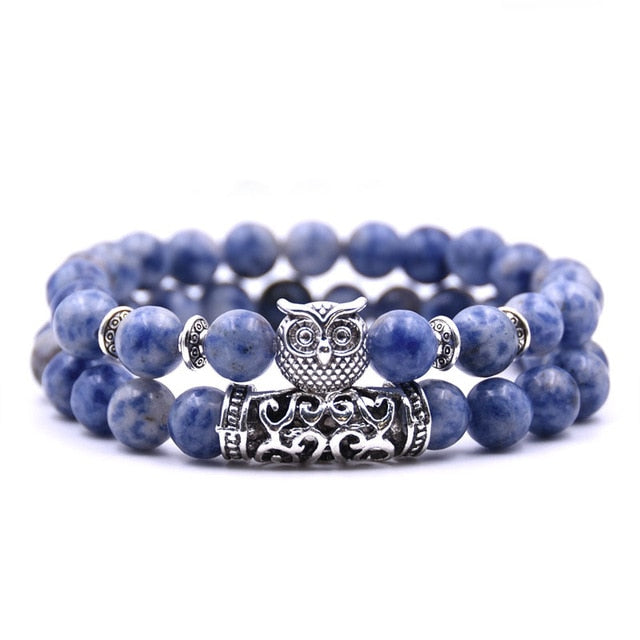 Couples Distance Owl Bracelet - 2 Piece Set