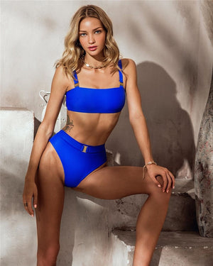 Cleopatra's Royal Blue Bikini Set