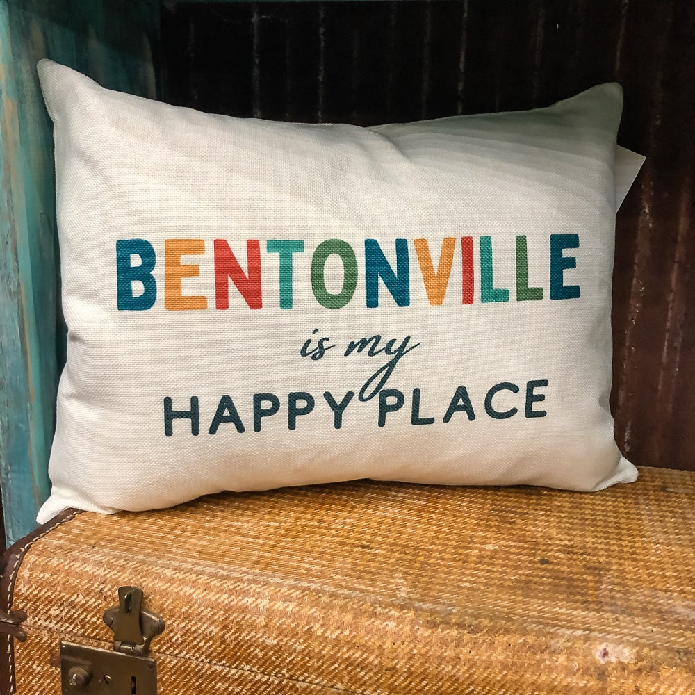 Bentonville Happy Place Pillow