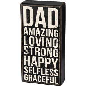 Amazing Dad Box Sign - Shopbluemoonbentonville