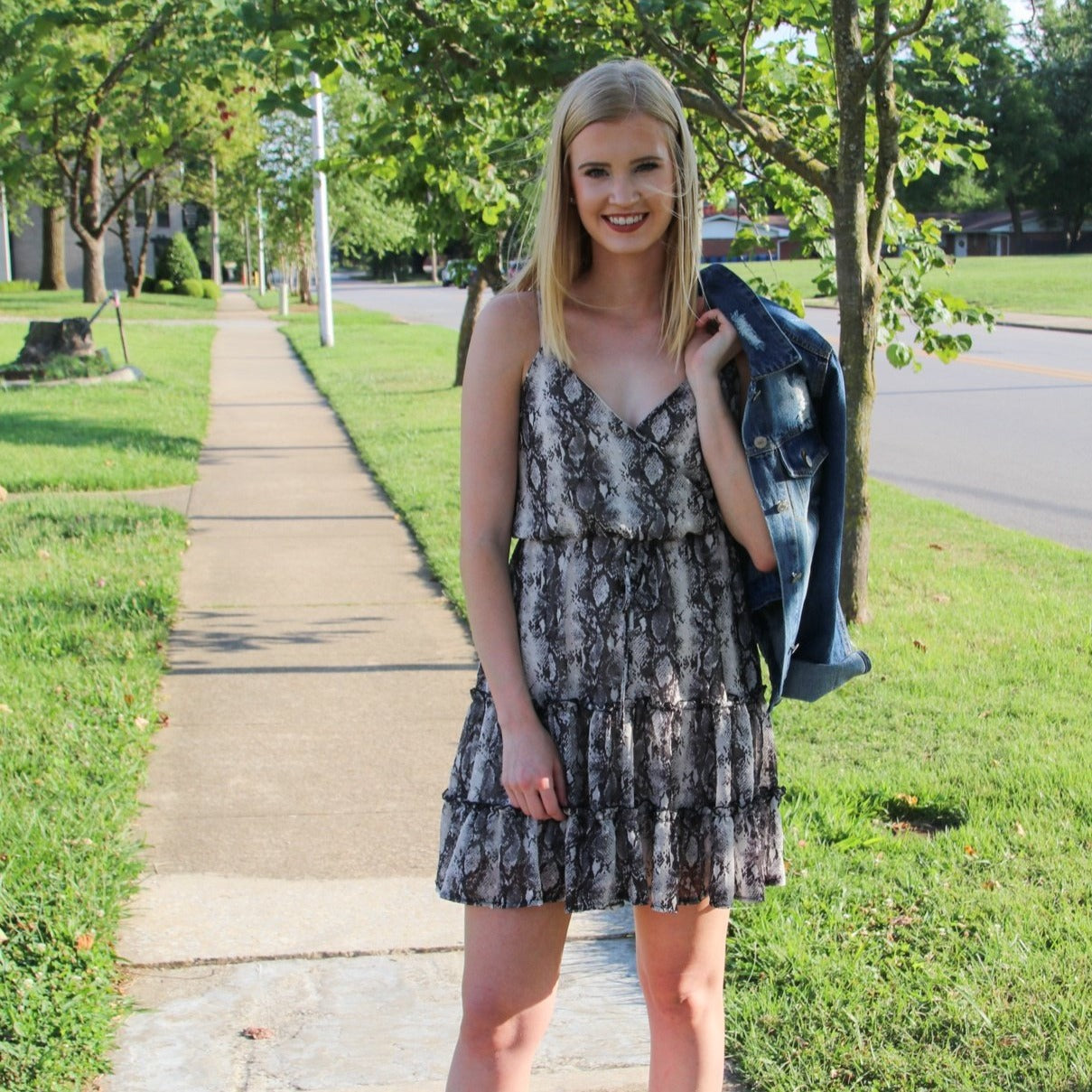 Snakeskin Dress - Shopbluemoonbentonville