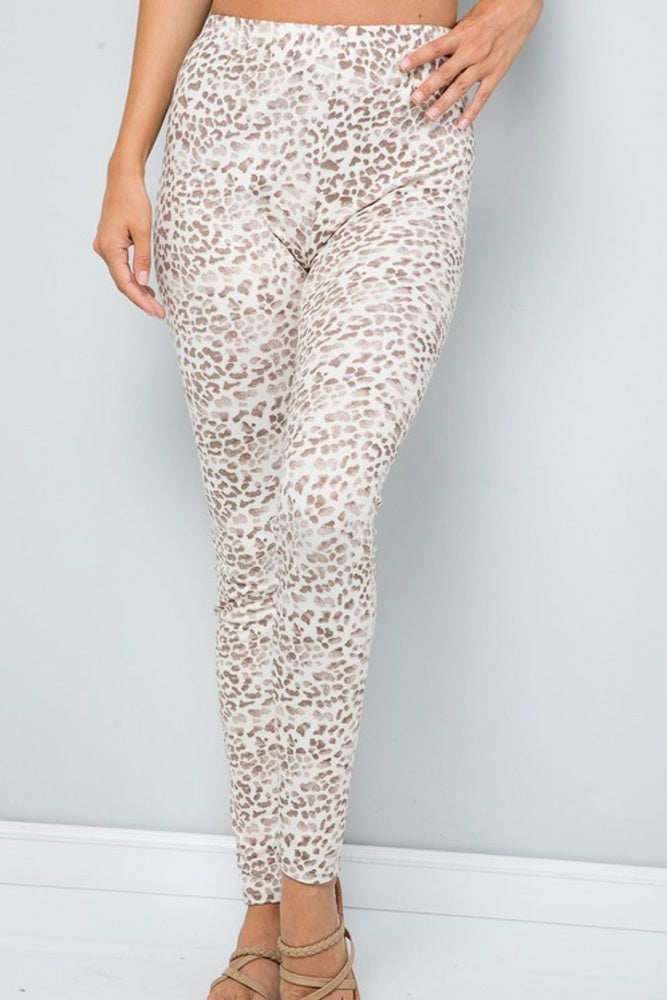 Taupe Animal Print Leggings