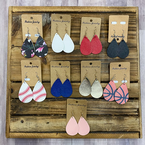 Leather Teardrop Earring - Shopbluemoonbentonville