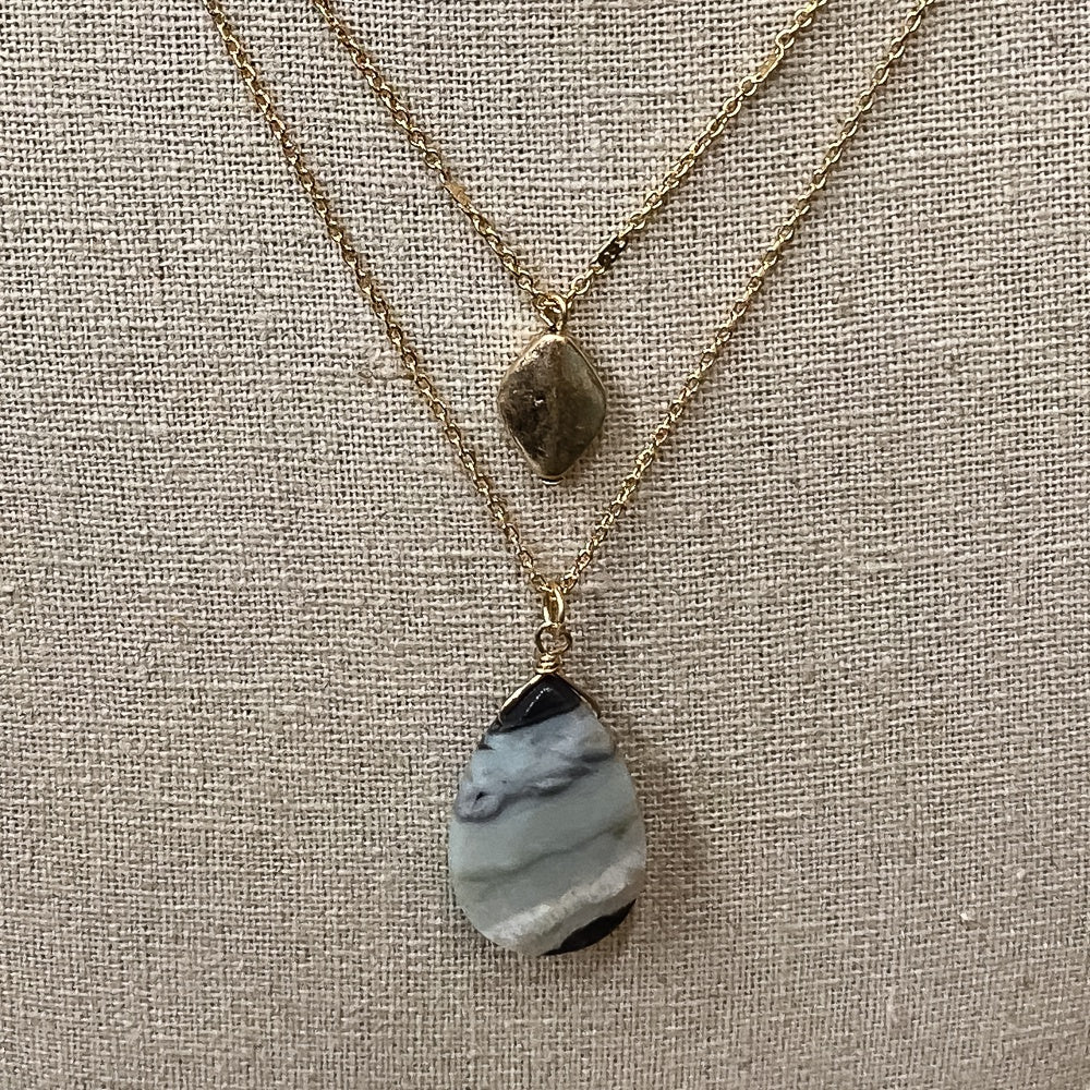 Dainty Layered Amazonite Necklace - Shopbluemoonbentonville