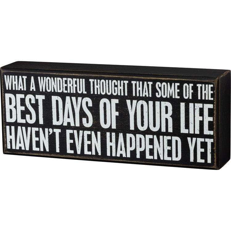 Wonderful Thought Box Sign - Shopbluemoonbentonville