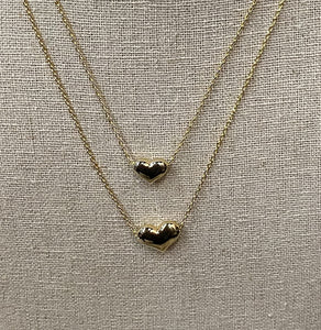Dainty Layered Heart Charm Necklace - Shopbluemoonbentonville