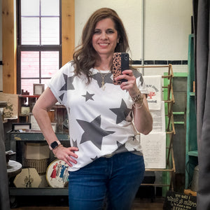Callie Star Print Top