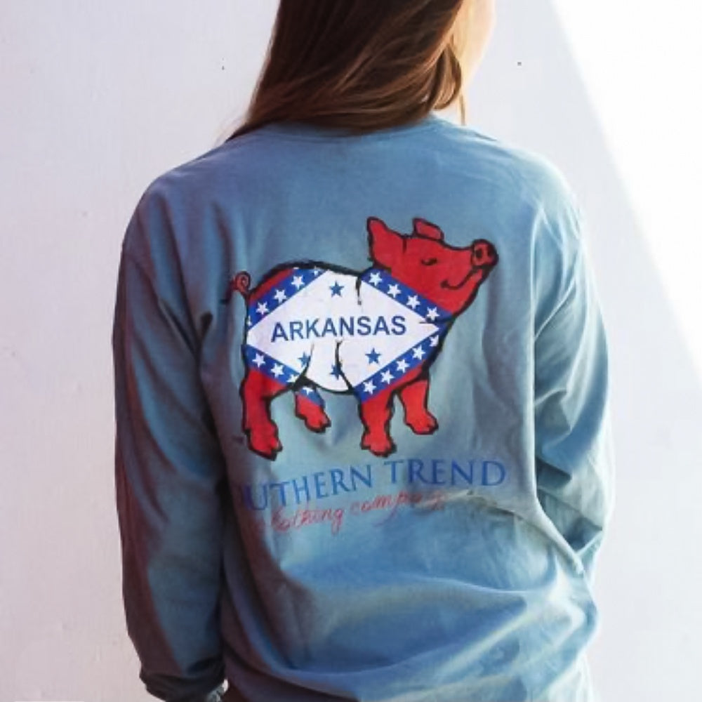 AR Flag Pig Long Sleeve T-shirt
