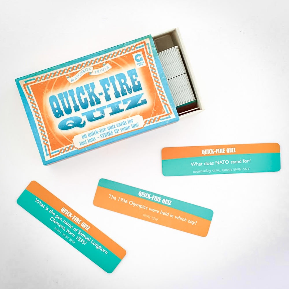 Quick-Fire Quiz Matchbox Trivia Game