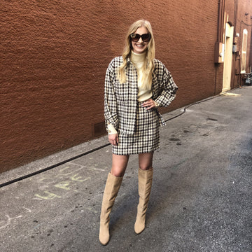 Olivia Houndstooth Suit