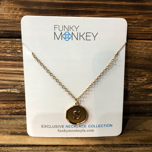 Funky Monkey Initial Necklace