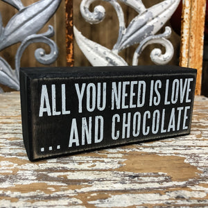 Love and Chocolate Box Sign - Shopbluemoonbentonville