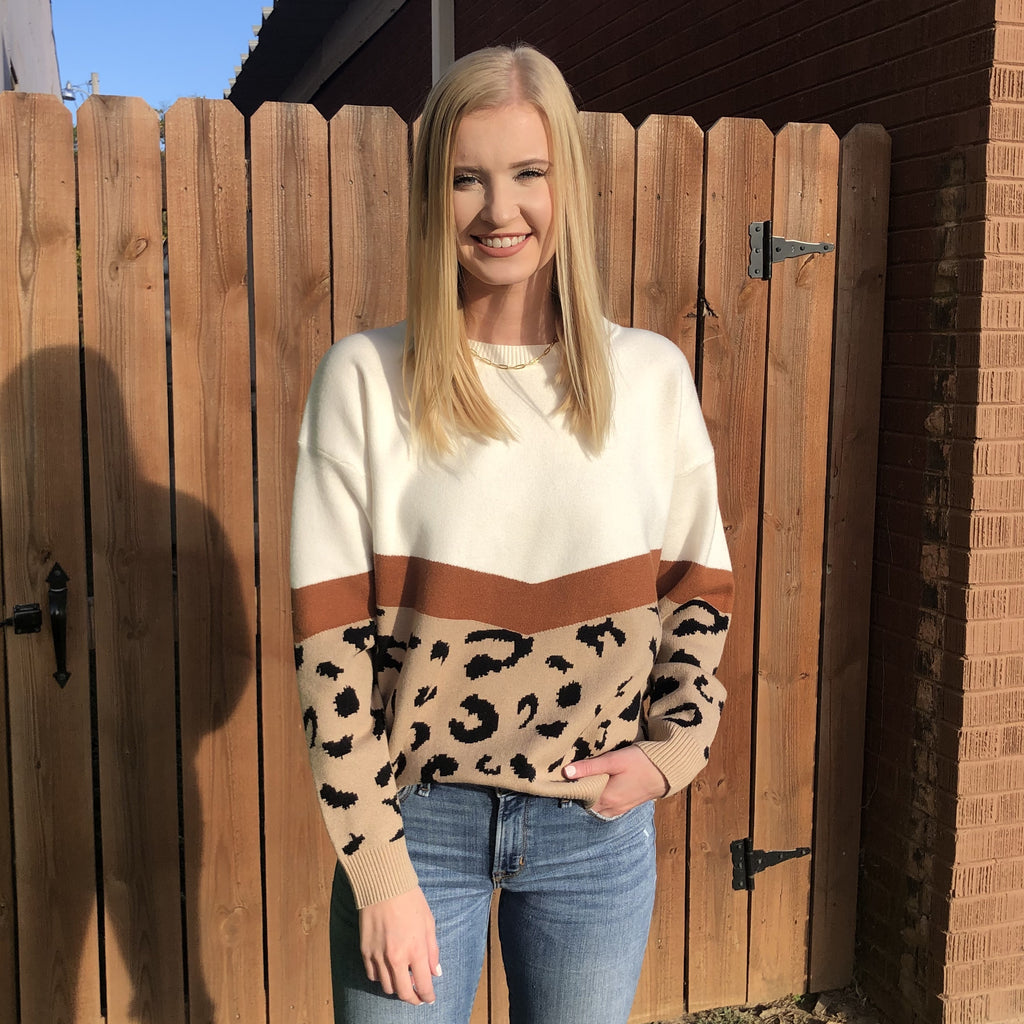 Half Leopard Sweater