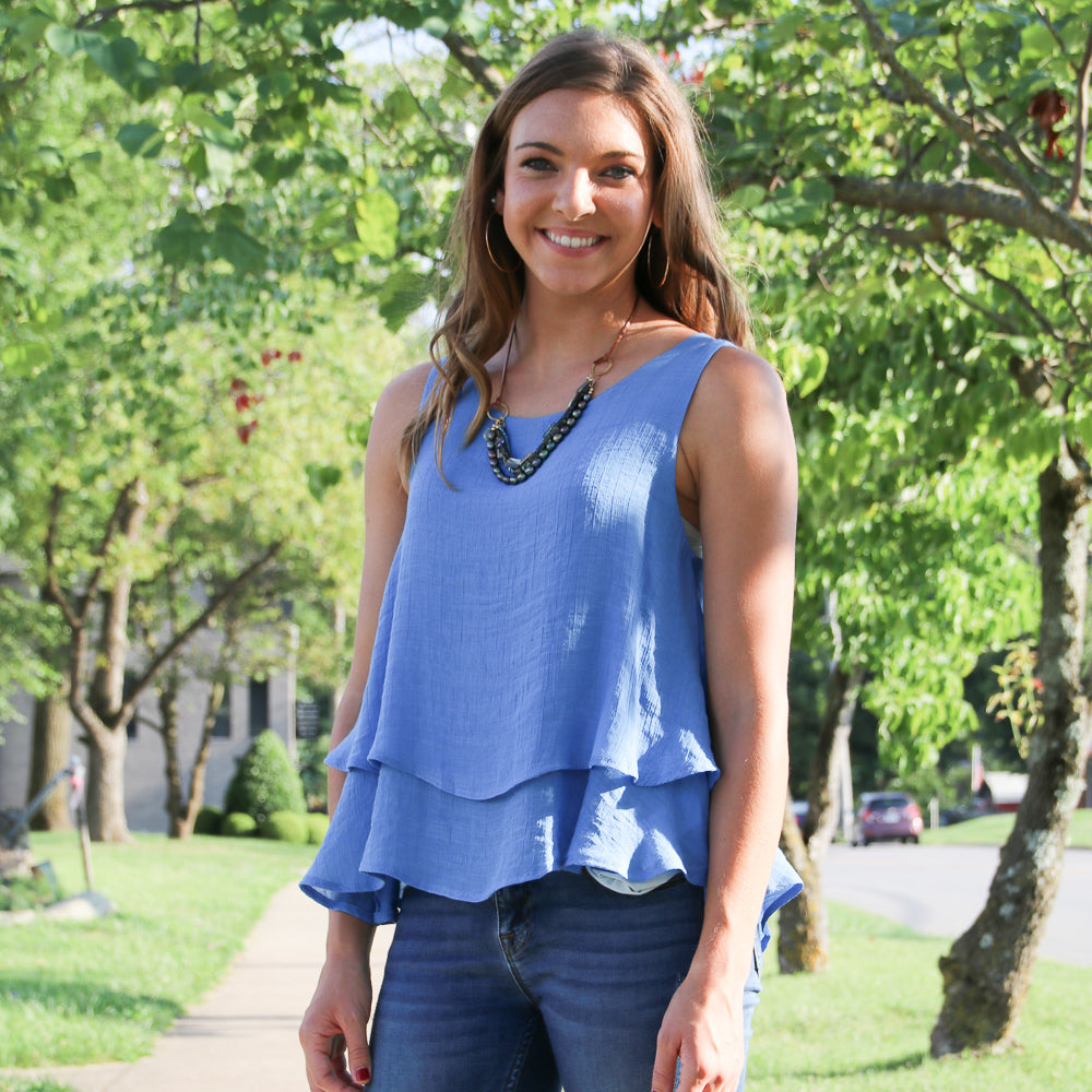 Sleeveless Tiered Top - Shopbluemoonbentonville