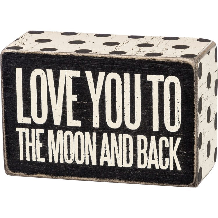To the Moon Box Sign - Shopbluemoonbentonville