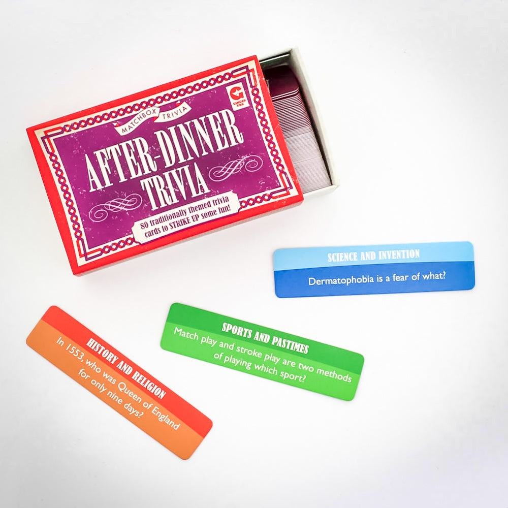 After-Dinner Trivia Matchbox Game