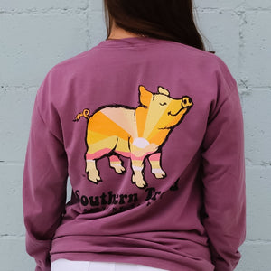 Sunrise Pig Long Sleeve T-Shirt