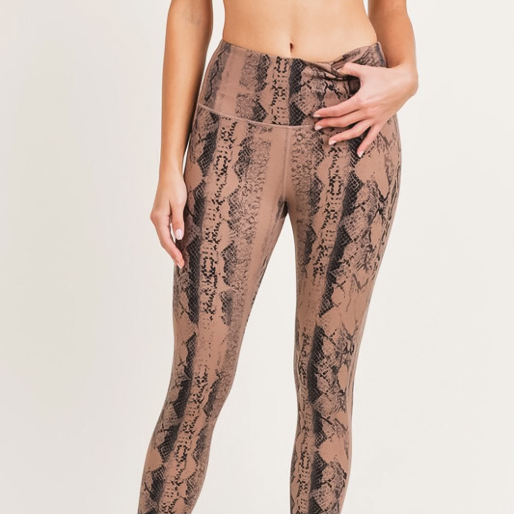 Snake Print High-waist Leggings