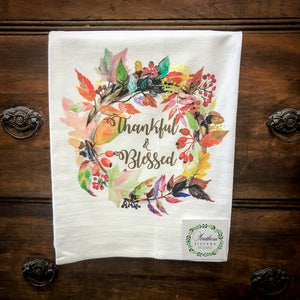 Flour Sack Towel-Fall