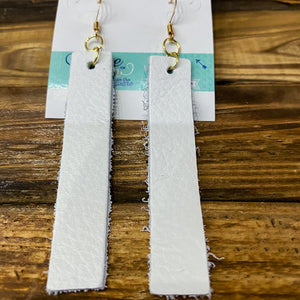 Leather Rectangle Earrings - Shopbluemoonbentonville