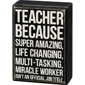 Teacher Box Signs - Shopbluemoonbentonville