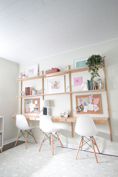 DIY desk corner kids